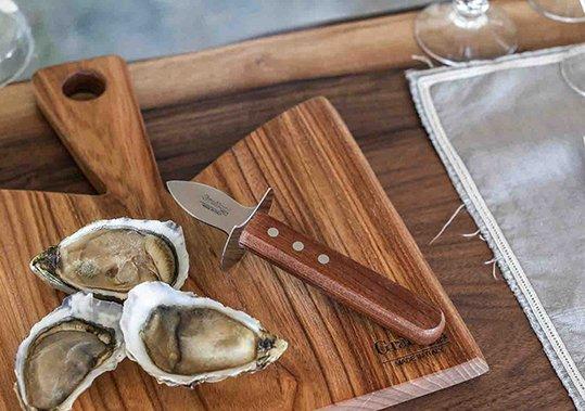 coltello ostriche Grattoni manico legno