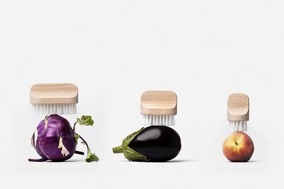 spazzole frutta e verdura legno Andrée Jardin